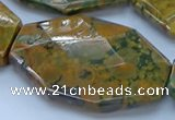 CRH154 15.5 inches 32*45mm - 35*50mm faceted freeform rhyolite beads