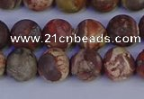 CRH512 15.5 inches 8mm round matte rhyolite gemstone beads