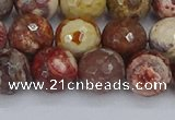 CRH521 15.5 inches 10mm faceted round rhyolite gemstone beads