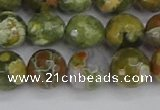 CRH529 15.5 inches 10mm faceted round rhyolite beads wholesale