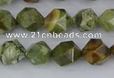 CRH542 15.5 inches 8mm faceted nuggets rhyolite beads wholesale