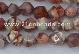 CRH547 15.5 inches 6mm faceted nuggets rhyolite gemstone beads