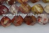 CRH548 15.5 inches 8mm faceted nuggets rhyolite gemstone beads