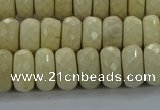 CRI223 15.5 inches 8*12mm faceted rondelle riverstone beads