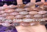 CRI304 15.5 inches 10*25mm rice moonstone beads wholesale