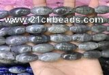 CRI305 15.5 inches 10*25mm rice labradorite beads wholesale