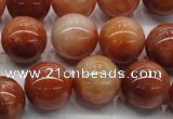 CRJ502 15.5 inches 8mm round red jade gemstone beads