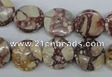 CRM02 15.5 inches 15mm coin red mud jasper gemstone beads wholesale