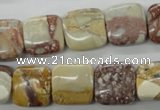CRM94 15.5 inches 14*14mm square red mud jasper wholesale
