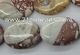 CRM97 15.5 inches 18*25mm oval red mud jasper wholesale
