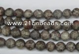 CRO07 15.5 inches 6mm round Chinese leopard skin jasper beads