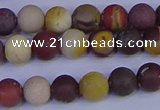 CRO1002 15.5 inches 8mm round matte mookaite gemstone beads