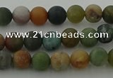 CRO1081 15.5 inches 6mm round matte Indian agate beads wholesale