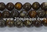 CRO1171 15.5 inches 6mm round fire lace opal gemstone beads