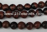 CRO126 15.5 inches 8mm round mahogany obsidian beads wholesale