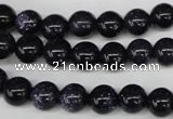 CRO129 15.5 inches 8mm round blue goldstone beads wholesale