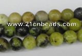 CRO134 15.5 inches 8mm round yellow turquoise beads wholesale