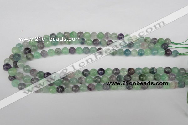 CRO136 15.5 inches 8mm round fluorite gemstone beads wholesale