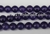 CRO148 15.5 inches 8mm round dyed amethyst beads wholesale
