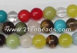 CRO155 15.5 inches 8mm round mixed gemstone beads wholesale