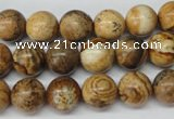 CRO181 15.5 inches 10mm round picture jasper beads wholesale