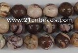 CRO187 15.5 inches 10mm round zebra jasper beads wholesale