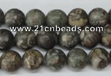 CRO195 15.5 inches 10mm round Chinese leopard skin jasper wholesale