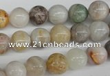 CRO199 15.5 inches 10mm round bamboo leaf agate beads wholesale