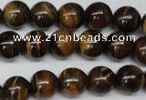 CRO216 15.5 inches 10mm round yellow tiger eye beads wholesale