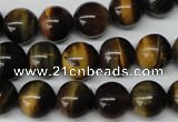 CRO217 15.5 inches 10mm round yellow & blue tiger eye beads wholesale