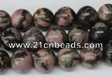 CRO225 15.5 inches 10mm round rhodonite gemstone beads wholesale