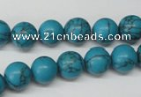 CRO226 15.5 inches 10mm round synthetic turquoise beads wholesale