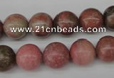 CRO285 15.5 inches 12mm round rhodochrosite beads wholesale