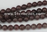 CRO30 15.5 inches 6mm round purple aventurine beads wholesale