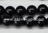 CRO310 15.5 inches 12mm round blue goldstone beads wholesale