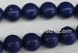 CRO345 15.5 inches 12mm round synthetic lapis lazuli beads wholesale