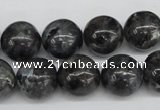 CRO399 15.5 inches 14mm round black labradorite beads wholesale