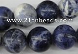 CRO423 15.5 inches 16mm round sodalite gemstone beads wholesale