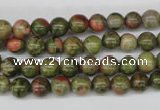 CRO45 15.5 inches 6mm round unakite gemstone beads wholesale