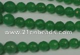 CRO717 15.5 inches 6mm – 14mm faceted round candy jade beads