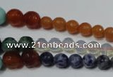 CRO727 15.5 inches 6mm – 14mm faceted round mixed gemstone beads