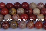 CRO871 15.5 inches 6mm round red porcelain beads wholesale
