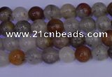 CRO890 15.5 inches 4mm round mixed lodalite quartz beads wholesale