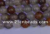 CRO891 15.5 inches 6mm round mixed lodalite quartz beads wholesale
