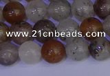 CRO892 15.5 inches 8mm round mixed lodalite quartz beads wholesale