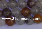 CRO893 15.5 inches 10mm round mixed lodalite quartz beads wholesale