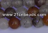 CRO894 15.5 inches 12mm round mixed lodalite quartz beads wholesale