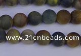 CRO911 15.5 inches 6mm round matte golden pietersite beads