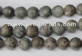 CRO95 15.5 inches 8mm round Chinese leopard skin jasper beads wholesale