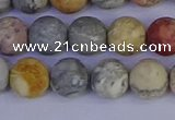 CRO993 15.5 inches 10mm round matte sky eye stone beads wholesale